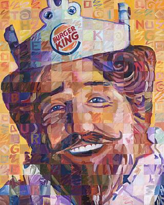 Cheeseburger Painting - The Burger King by Randal Huiskens