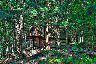 Log Cabin Photograph - The Cabin At Ledgedale by David Patterson