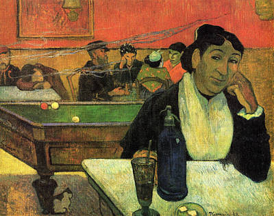 Bar Painting - The Cafe At Night, Arles by Paul Gauguin