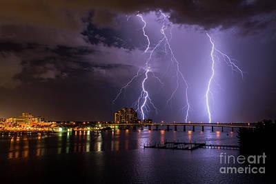 Thunder Photograph - The Caloosahatchee by Quinn Sedam