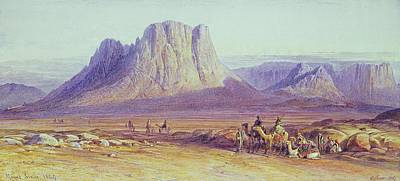Bedouin Painting - The Camel Train by Edward Lear