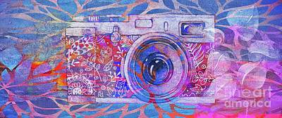 Fushia Digital Art - The Camera - 02c3t by Variance Collections