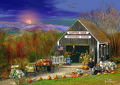 Farm Stand Photograph - The Campton Farm by Nancy Griswold