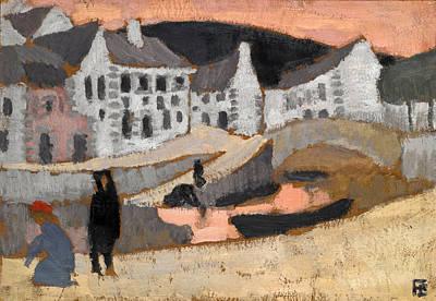 Roger De La Fresnaye Painting - The Canal. Brittany Landscape by Roger de La Fresnaye