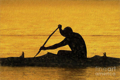 Sports Photograph - The Canoeist by Scott Cameron