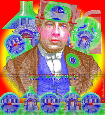 Montage Digital Art - The Capitalist by Eric Edelman