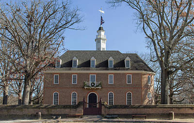 Weathervane Photograph - The Capitol At Colonial Williamsburg by Teresa Mucha