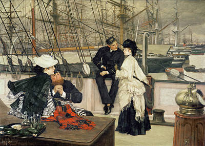 The Captain And The Mate Print by Tissot