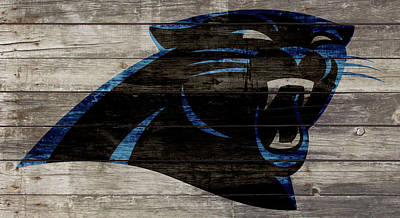 Tim Tebow Mixed Media - The Carolina Panthers W1 by Brian Reaves