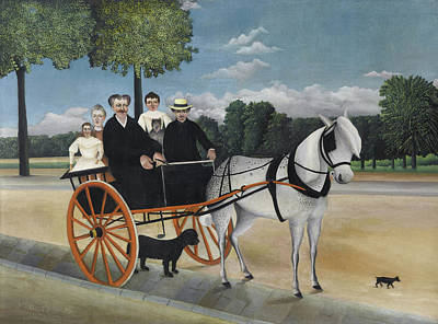 Pseudo Painting - The Cart Of Father Junier by Henri Rousseau
