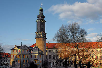 Clock Photograph - The Castle - Weimar - Thuringia - Germany by Christine Till