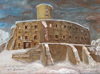Polskie Obrazy Painting - The Castle by Anna Folkartanna Maciejewska-Dyba