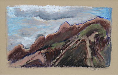 Cloudy Day Drawing - The Catalinas by Bonnie See
