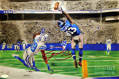 Dallas Drawing - The Catch - Signed Reprint by Chris Volpe