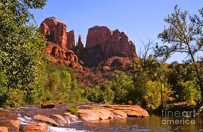 The Cathedral Rocks Print by Alex Cassels