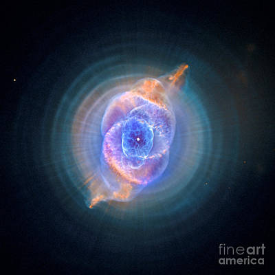 Galactic Digital Art - The Cat's Eye Nebula by Nicholas Burningham