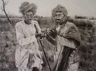 The Cattle Rearers Original by Mickey Raina