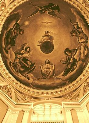 Notre Dame Photograph - The Ceiling Of Notre Dame University by Dan Sproul