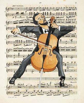 The Cellist Print by Paul Helm