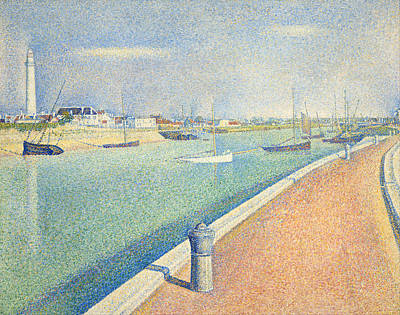 Townscape Painting - The Channel Of Gravelines, Petit Fort Philippe by Georges Seurat