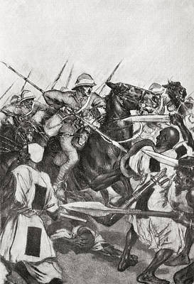 21st Drawing - The Charge Of The 21st Lancers by Vintage Design Pics