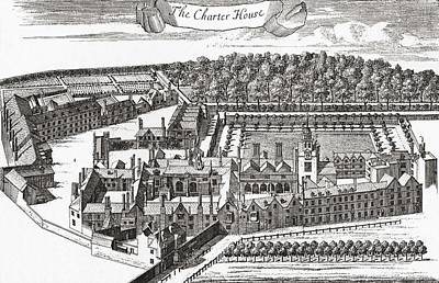 Sutton Drawing - The Charterhouse, Charterhouse Square by Vintage Design Pics
