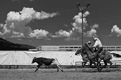 Cowboys Photograph - The Chase For Time by Scott Sawyer