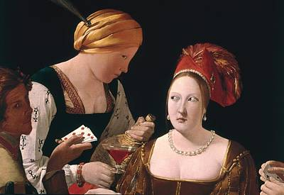 The Cheat With The Ace Of Diamonds Print by Georges de la Tour