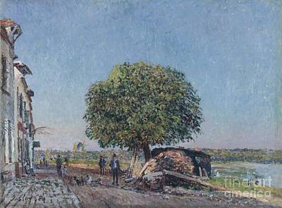 Chestnut Painting - The Chestnut Tree At Saint-mammes by Celestial Images