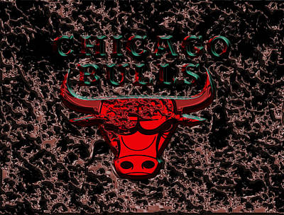 The Chicago Bulls 3b Print by Brian Reaves