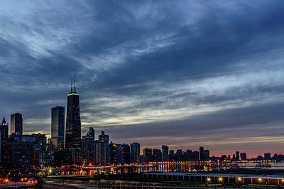 America Photograph - The Chicago Skyline by Sabih Jafri