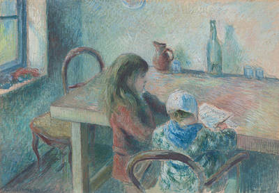 Kitchen Chair Painting - The Children by Camille Pissarro