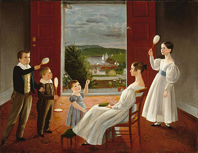 Ambrose Andrews Painting - The Children Of Nathan Starr by Ambrose Andrews