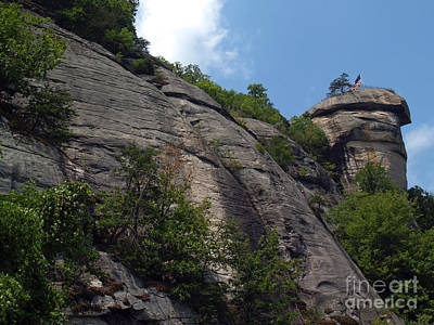 The Chimney At Chimney Rock State Park Nc Print by Anna Lisa Yoder
