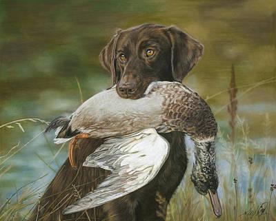 Chocolate Labrador Retriever Painting - The Chocolate by Terry Kirkland Cook
