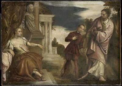 The Choice Between Virtue And Passion Print by Paolo Veronese