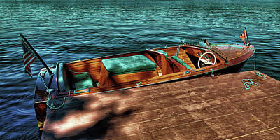 Cri Photograph - The Chris Craft Continental - 1958 by David Patterson