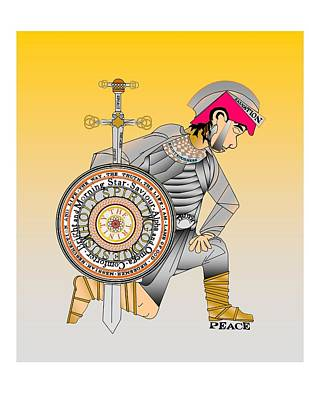 Creativity Digital Art - The Christian Warrior by Gary Kennedy