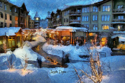 Christmas Tree Digital Art - The Christmas Night - Da by Leonardo Digenio