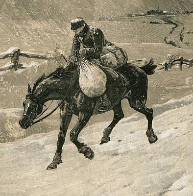 The Christmas Postman Print by John Charles Dollman