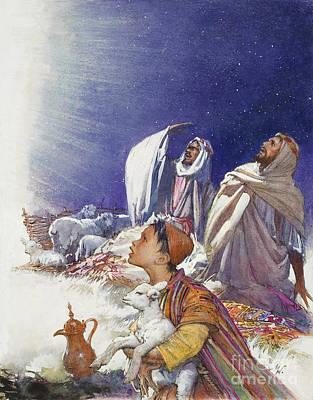The Christmas Story The Shepherds' Tale Print by John Millar Watt