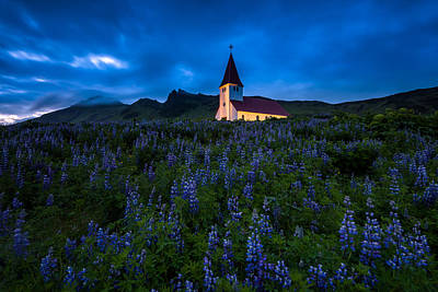 The Church At Vik Print by Joseph Rossbach