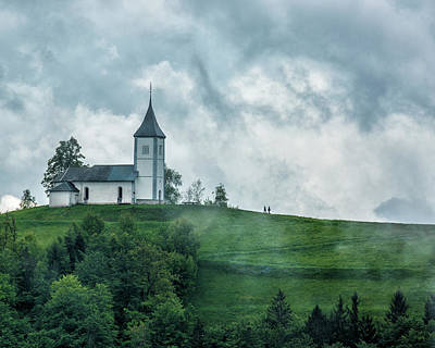 Church In The Clouds Print by Lindley Johnson