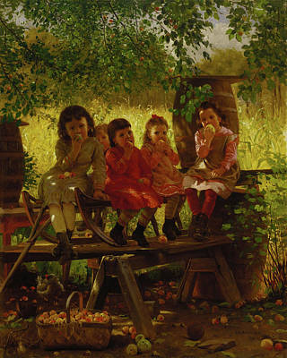 Summer Picnic Painting - The Cider Mill by John George Brown