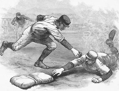 Player Drawing - The Cincinnati Red Stockings by American School