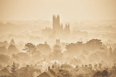 The City Of Canterbury Print by Ian Hufton