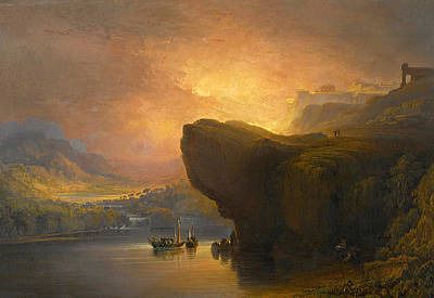 John Martin Painting - The City Of God And The Waters Of Life by John Martin