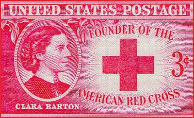 Barton Painting - The Clara Barton Stamp by Lanjee Chee