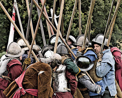 The Clash Of The Pikemen Print by Linsey Williams