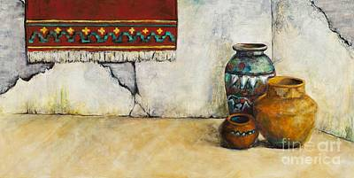The Clay Pots Print by Frances Marino